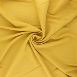Tissu piqué viscose lurex - jaune moutarde x 10cm