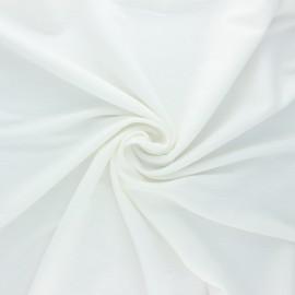 Tissu piqué viscose lurex - blanc cassé x 10cm