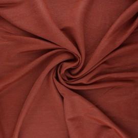 Tissu piqué viscose lurex - terracotta x 10cm