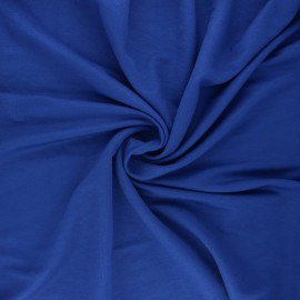 Tissu piqué viscose - bleu roi x 10cm