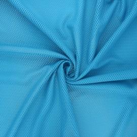 Tissu mesh Sporty - bleu x 10cm
