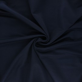 Stitched viscose fabric - night blue x 10cm
