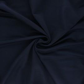 Tissu piqué viscose - bleu nuit x 10cm