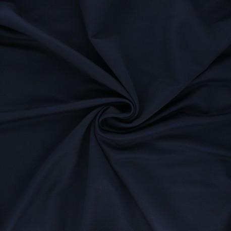 Stitched viscose fabric - night blue x 10cm