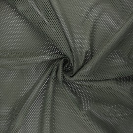 Tissu mesh Sporty - vert kaki x 10cm