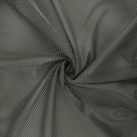 Mesh fabric - khaki green Sporty x 10cm