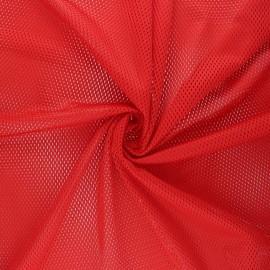 Tissu mesh Sporty - rouge x 10cm