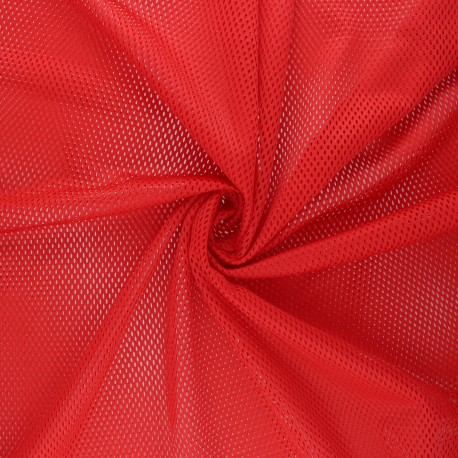 Mesh fabric - red Sporty x 10cm