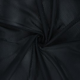 Mesh fabric - black Sporty x 10cm