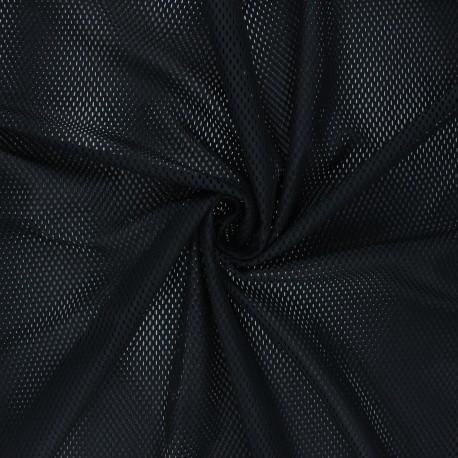 Mesh fabric - black Sporty x 10cm