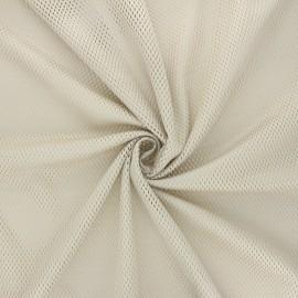 Tissu mesh Sporty - beige x 10cm