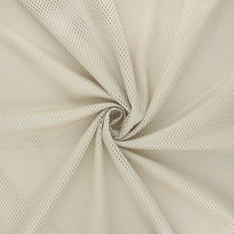 Mesh fabric - beige Sporty x 10cm