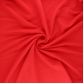 Stitched viscose fabric - red x 10cm