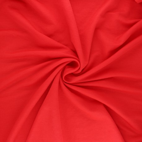 Stitched viscose fabric - red x 10cm