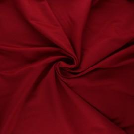 Stitched viscose fabric - dark red x 10cm