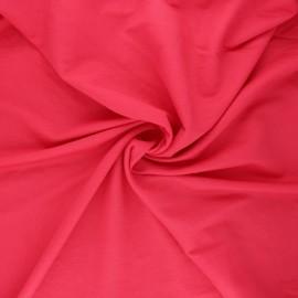 Stitched viscose fabric - candy pink x 10cm