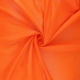 Tissu mesh Sporty - orange x 10cm