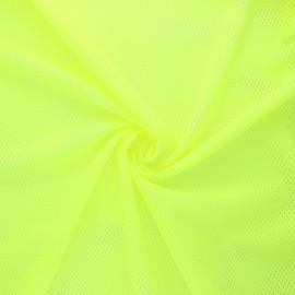 Tissu mesh Sporty - jaune fluo x 10cm
