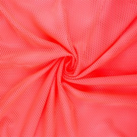 Tissu mesh Sporty - rose fluo x 10cm