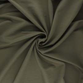 Tissu piqué viscose - kaki x 10cm