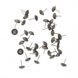 11mm Upholstery nail tack - black/brass (x100)