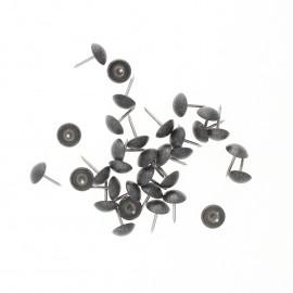 Clou tapissier Paillettes 11mm (lot de 100) - gris foncé