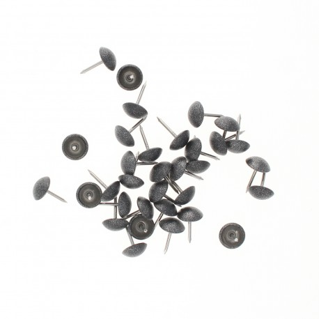 11mm Upholstery nail tack - dark grey Paillettes (x100)