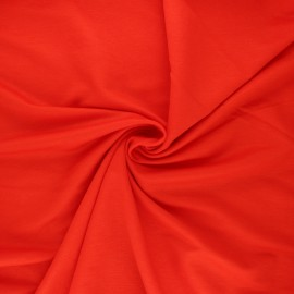 Stitched viscose fabric - poppy red x 10cm