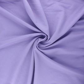 Tissu piqué viscose - parme x 10cm