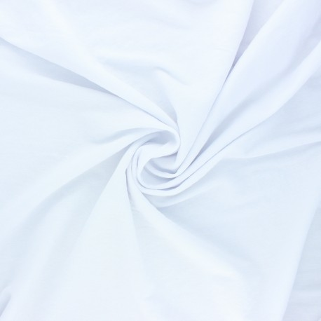 Stitched viscose fabric - white x 10cm