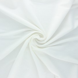 Stitched viscose fabric - off-white x 10cm