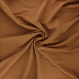 Tissu piqué viscose - camel x 10cm