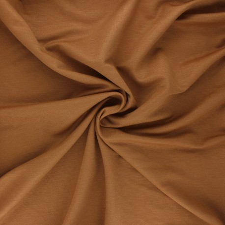 Stitched viscose fabric - camel x 10cm