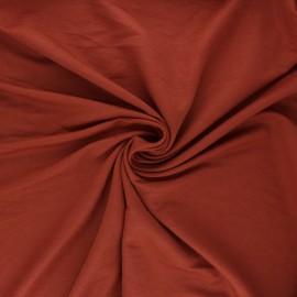 Tissu piqué viscose - terracotta x 10cm