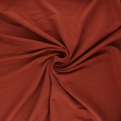 Stitched viscose fabric - terracotta x 10cm