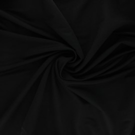 Tissu piqué viscose - noir x 10cm