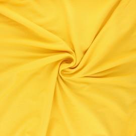 Tissu piqué viscose - jaune mimosa x 10cm
