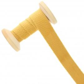 20 mm Velvet Bias Binding Roll - Yellow Mustard Python
