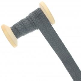 20 mm Velvet Bias Binding Roll - Grey Python
