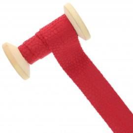 30 mm Velvet Bias Binding Roll - Red Python