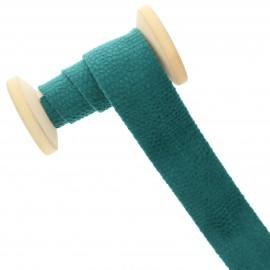 30 mm Velvet Bias Binding Roll - Green Python