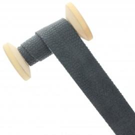 30 mm Velvet Bias Binding Roll - Grey Python