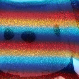 Rainbow fusible fabric - multicolor x 10cm