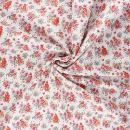 Tissu popeline de coton Happy spring - rouge x 10cm