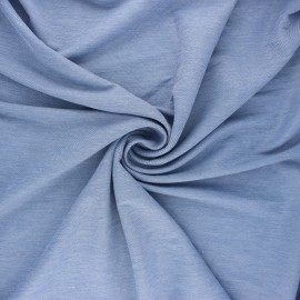 Fluid stitched viscose fabric - light blue x 10cm