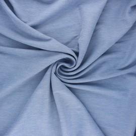 Tissu piqué viscose fluide - bleu clair x 10cm