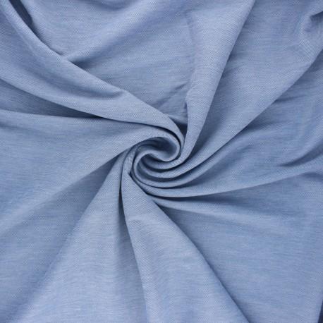 Fluid stitched viscose fabric - light blue x 10cm