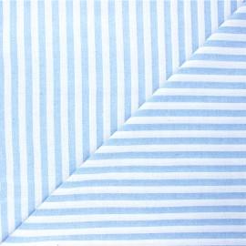Tissu coton chambray Antibes - bleu ciel x 10cm