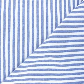 Tissu coton chambray Antibes - bleu x 10cm