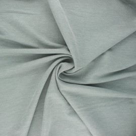 Fluid stitched viscose fabric - mottled sage green x 10cm